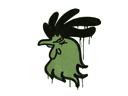 Sealed Graffiti | Cocky (Battle Green)