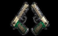 StatTrak™ Dual Berettas | Royal Consorts (Well-Worn)