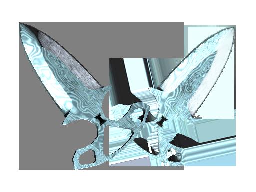 ★ Shadow Daggers | Damascus Steel (Minimal Wear)