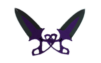 ★ Shadow Daggers | Ultraviolet (Well-Worn)