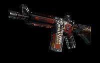 StatTrak™ M4A4 | Hellfire (Well-Worn)