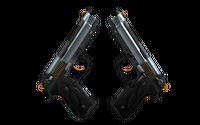 StatTrak™ Dual Berettas | Ventilators (Minimal Wear)