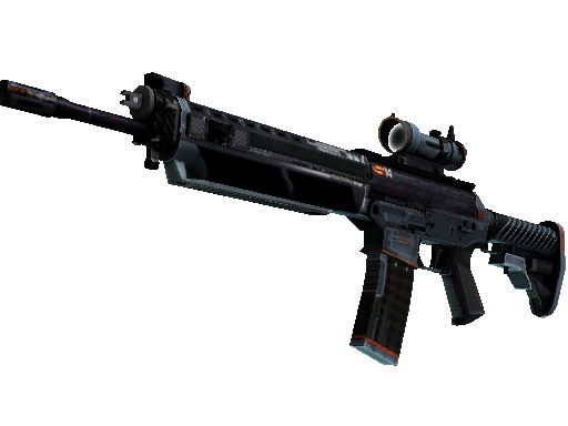 SG 553 | Phantom (Battle-Scarred)