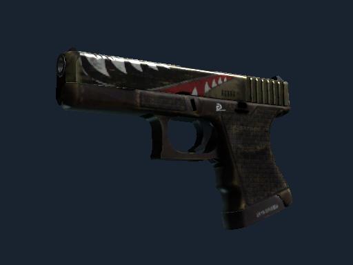 StatTrak™ Glock-18 | Warhawk (Well-Worn)