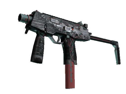 MP9 | Capillary (Battle-Scarred)