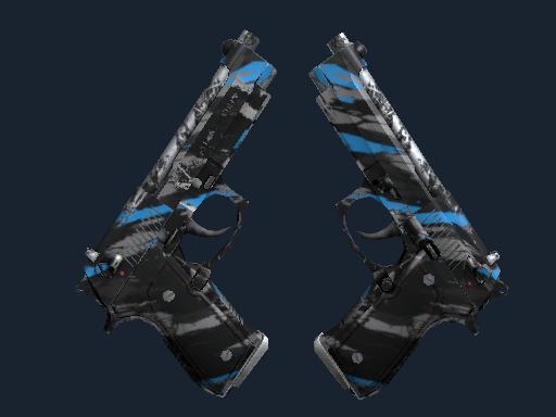 StatTrak™ Dual Berettas | Shred (Field-Tested)
