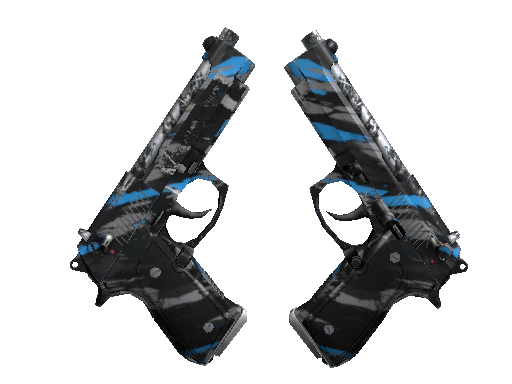 StatTrak™ Dual Berettas | Shred (Well-Worn)
