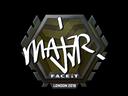 Sticker   MAJ3R   London 2018