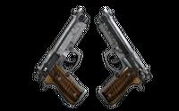 Dual Berettas | Black Limba (Battle-Scarred)