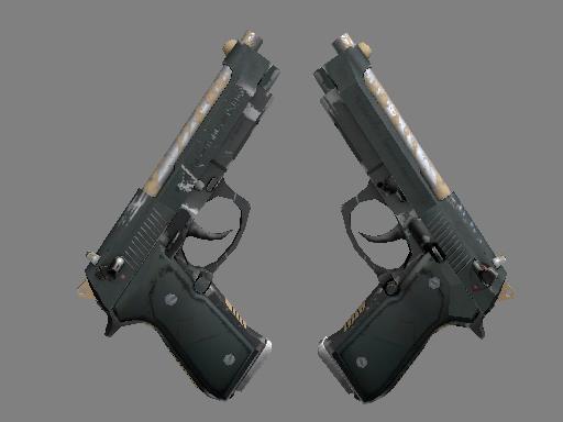 Dual Berettas | Contractor (Well-Worn)
