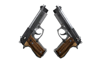 Dual Berettas | Black Limba (Minimal Wear)
