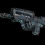 FAMAS   Cyanospatter (Battle-Scarred)