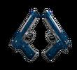 Dual Berettas | Синий кварц (Немного поношенное)