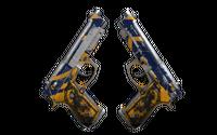StatTrak™ Dual Berettas | Marina (Battle-Scarred)