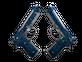 Dual Berettas | Cobalt Quartz (Well-Worn)