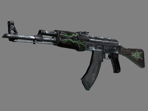 AK-47 | Emerald Pinstripe (Well-Worn)