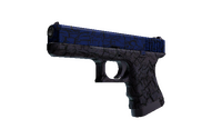 Glock-18   Blue Fissure (Minimal Wear)