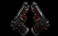 StatTrak™ Dual Berettas | Panther (Well-Worn)