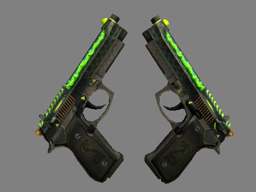 Dual Berettas | Cobra Strike (Minimal Wear)