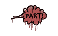 Sealed Graffiti   Fart (Blood Red)