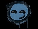 Sealed Graffiti | Smirk (Monarch Blue)
