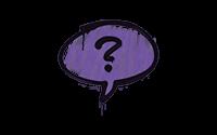 Sealed Graffiti | Question Mark (Monster Purple)
