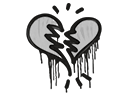 Sealed Graffiti   Broken Heart (Shark White)