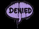 Sealed Graffiti   Denied (Violent Violet)