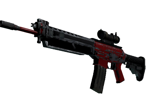 SG 553 | Candy Apple (Battle-Scarred)