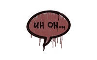 Sealed Graffiti | Uh Oh (Brick Red)