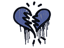 Sealed Graffiti | Broken Heart (SWAT Blue)