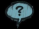 Sealed Graffiti | Question Mark (Wire Blue)