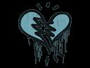 Sealed Graffiti | Broken Heart (Wire Blue)