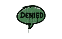 Sealed Graffiti | Denied (Jungle Green)