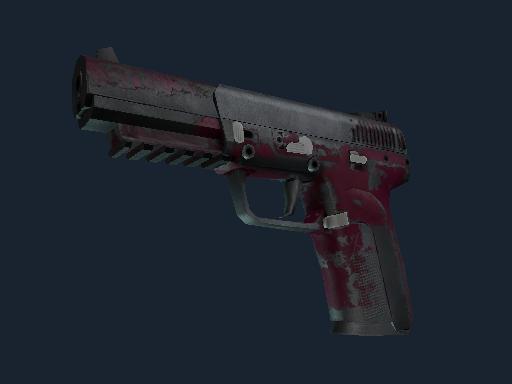 Five-SeveN | Crimson Blossom (Battle-Scarred)