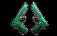 Dual Berettas | Emerald (Minimal Wear)