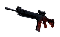 SG 553 | Darkwing (Well-Worn)