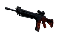 SG 553 | Darkwing (Battle-Scarred)
