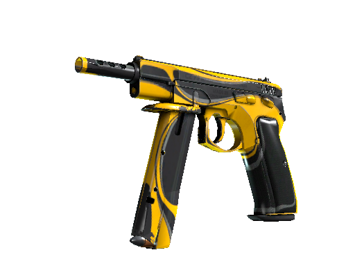 CZ75-Auto | Yellow Jacket (Well-Worn)