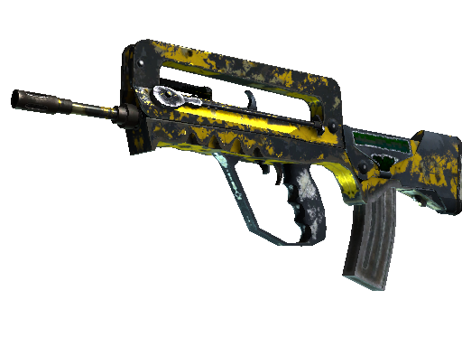 FAMAS | Neural Net (Battle-Scarred)
