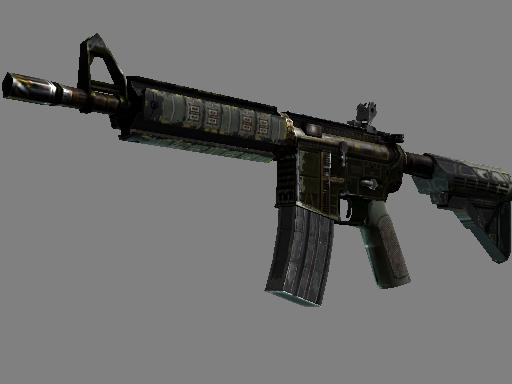 StatTrak™ M4A4 | The Battlestar (Battle-Scarred)