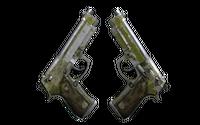Dual Berettas | Switch Board (Battle-Scarred)