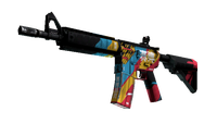 M4A4 | Cyber Security (Well-Worn)