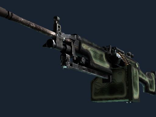 StatTrak™ M249 | Deep Relief (Battle-Scarred)