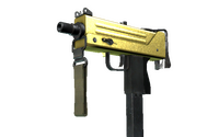 MAC-10 | Gold Brick (Minimal Wear)
