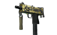 MAC-10 | Gold Brick (Battle-Scarred)