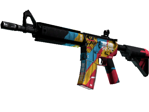 M4A4   Cyber Security (Well-Worn)
