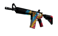 StatTrak™ M4A4 | Cyber Security (Well-Worn)