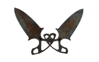 ★ Shadow Daggers | Rust Coat (Battle-Scarred)