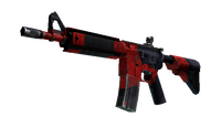 StatTrak™ M4A4 | Evil Daimyo (Well-Worn)